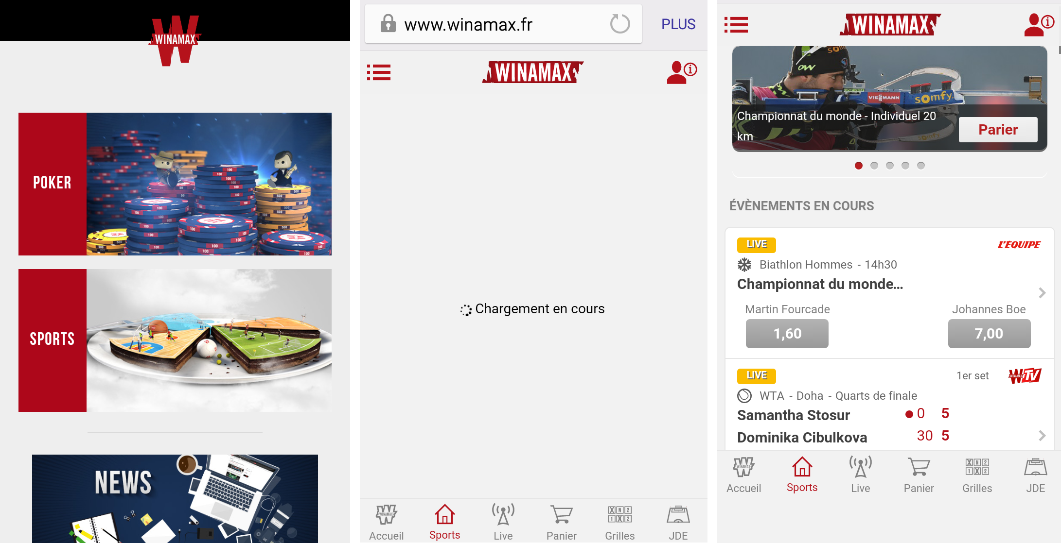 avis sur l'application Winamax sport